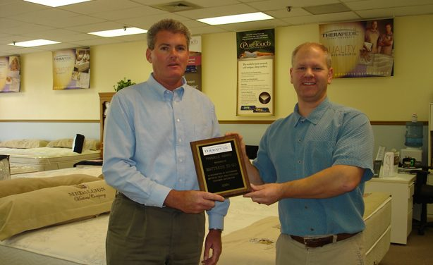 Mattress To Go Wins 2009 Therapedic Pinnacle Award