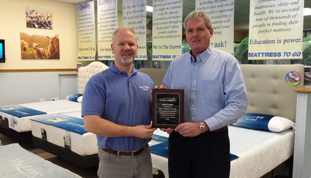 Mattress To Go Awarded 2015 Therapedic Pinnacle Award