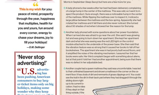 Mattress To Go Featured In Sleep Savvy Magazine November/December 2015 Issue