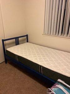 Walter's new twin mattress