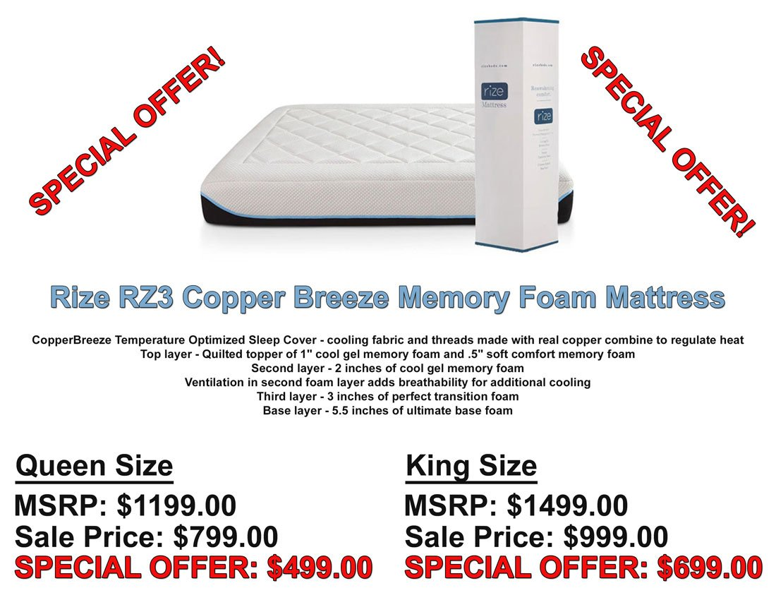 Rize RZ3 Mattress Specifications